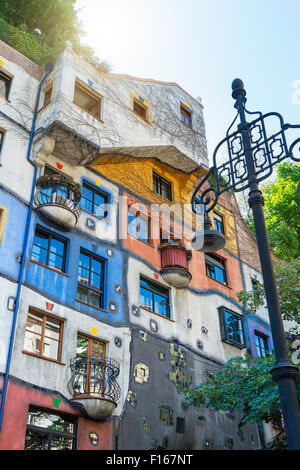 The Hundertwasser House in Vienna - Stock Photo