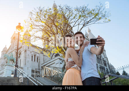Paris, Couple dating in Montmartre - Stock Photo