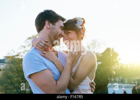 Paris, Couple dating in Montmartre - Stock Photo