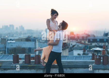 Couple dating in Paris - Stock Photo