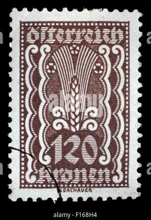 Stamp printed in Austria shows Symbols of Agriculture, circa 1922 - Stock Photo