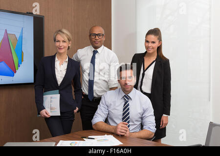 Portrait of a business people group - Stock Photo