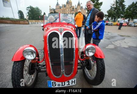 Schwerin Germany 28th Aug 2015 Hans Dieter Kark Starts The