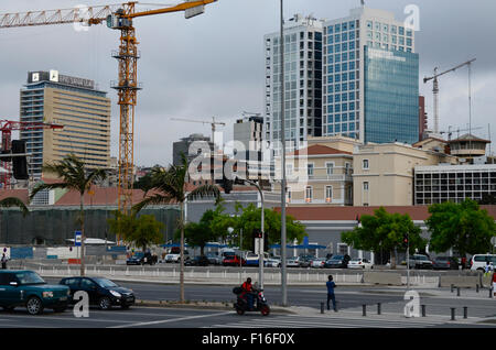 ANGOLA Luanda, sea promenade, due to revenues from oil and diamond exports a construction boom is seen everywhere - Stock Photo