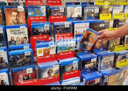 Blu-ray Discs and DVDs - Stock Photo