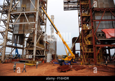 ANGOLA Malange , Biocom Project a joint venture between brazil company Odebrecht and Sonangol, state owned oil company - Stock Photo
