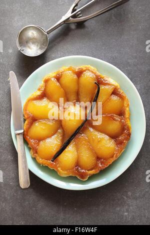 Pear tarte tatin - Stock Photo