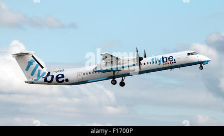 Aircraft information ModeS 405C04 Registration G-ECOF Type code DH8D Type Bombardier Dash 8 Q400 S/N 4216  Airline - Stock Photo