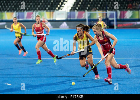 Lee Valley, London, UK. 28th Aug, 2015. Unibet EuroHockey Championships. Semi-Final England v Spain. Credit:  Simon - Stock Photo