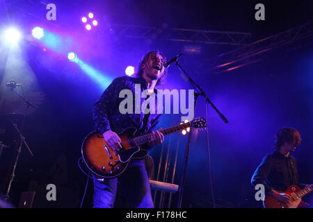 Leeds, Yorkshire UK. 28th August, 2015. We Are The Ocean perform live on the Festival Republic Stage at Leeds Festival - Stock Photo