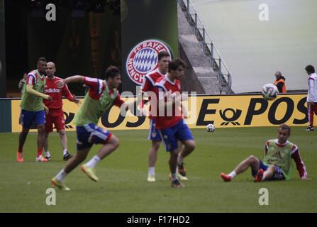 Impressionen - Training des FC Bayern Muenchen vor dem anstehenden Finale um den DFB-Pokal zwischen Borussia Dortmund - Stock Photo