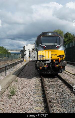 Chlitern Railways 68 class diesel locomotive 68011 at Wembley depot - Stock Photo