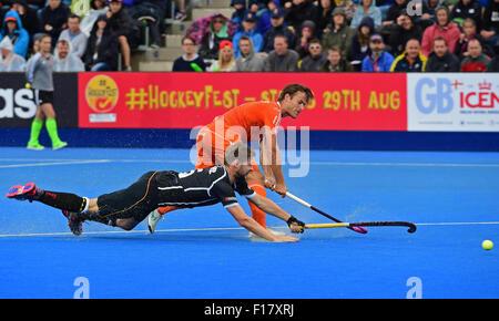 London, UK. 29th Aug, 2015. Unibet EuroHockey Championships Day 9. Mens Tournament Final, Netherlands versus Germany. - Stock Photo