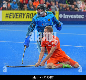 London, UK. 29th Aug, 2015. Unibet EuroHockey Championships Day 9. Mens Tournament Final, Netherlands v Germany. - Stock Photo