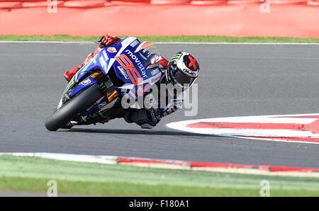 Silverstone, Northants, UK. 29th Aug, 2015. OCTO British Grand Prix. Jorge Lorenzo (Movistar Yamaha) during the - Stock Photo