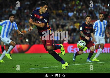 Barcelona, Spain. 29th Aug, 2015. FC Barcelona forward LUIS SUAREZ during the match between FC Barcelona vs Malaga - Stock Photo