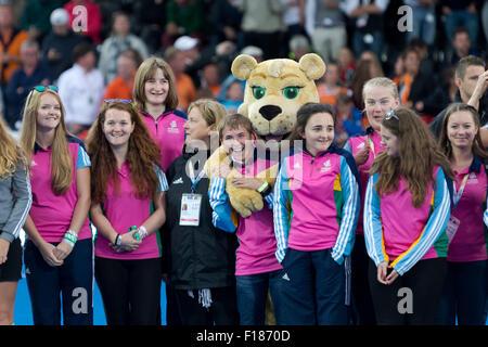 Lee Valley, London, UK. 29th Aug, 2015. Unibet EuroHockey Championships. Final Netherlands v Germany. - Stock Photo