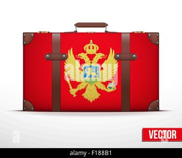 Classic vintage luggage suitcase for travel - Stock Photo