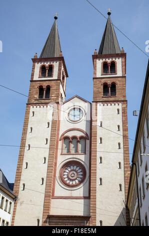 Dom St. Kilian Cathedral of St. Kilian, Würzburg, Bavaria, Germany - Stock Photo