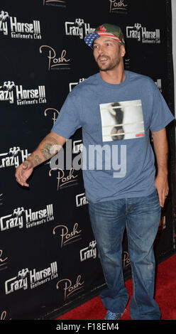 Las Vegas, Nevada, USA. 30th Aug, 2015. Kevin Federline to host a fantasy football draft party and perform a live - Stock Photo