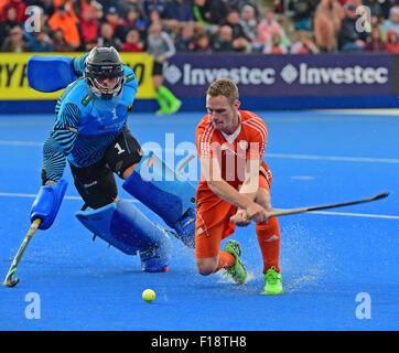 Leav Valley, London, UK. 29th Aug, 2015. Unibet EuroHockey Championships Day 9. Finals Netherlands versus Germany. - Stock Photo