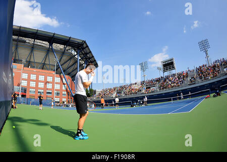 29.08.2015. New York City, NY, USA, US Open Tennis tournament, player preparations and kids day.  Andy Murray (GBR) - Stock Photo