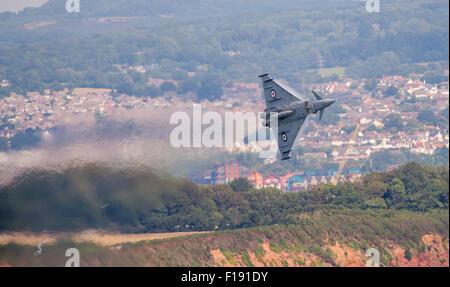 RAF Typhoon Display at Dawlish Air Show - Stock Photo