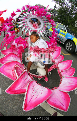 London, UK. 30th August 2015. Participants at the Notting Hill Carnival Children's Day 2015, London Credit:  Mary - Stock Photo