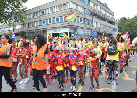 Notting Hill, London, UK. 30th August 2015. Children's Day at the Notting Hill Carnival Credit:  Matthew Chattle/Alamy - Stock Photo
