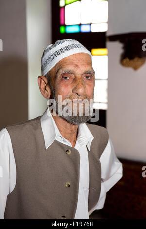 India, Jammu & Kashmir, Srinagar, Khwaja Manzil Nishati house, owner Haji Noor din Shah - Stock Photo