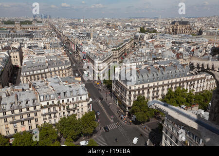 View from the Tower Saint-Jacques on Paris, France. - Stock Photo