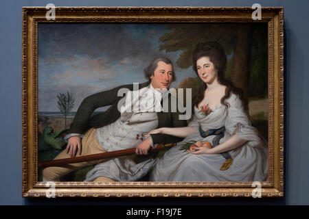 Benjamin and Eleanore Ridgely Lanming by Charles Wilson Peale, circa 1788 - Stock Photo