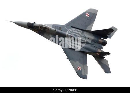 Polish Air Force Mikoyan MiG 29 at RIAT Royal International Air Tattoo RAF Fairford July 2015 - Stock Photo