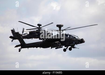 Army Air Corps WAH-64D Apache at RIAT Royal International Air Tattoo RAF Fairford July 2015 - Stock Photo
