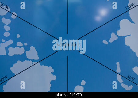 Map of North Pole - Stock Photo