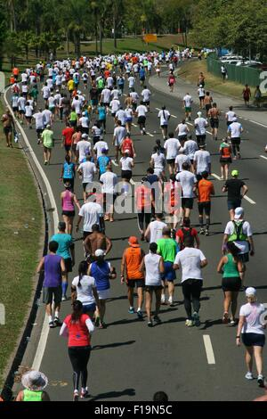 Rio de Janeiro, Brazil, 30th August 2015. 19th Rio de Janeiro International Half Marathon at Flamengo Park. Credit: - Stock Photo