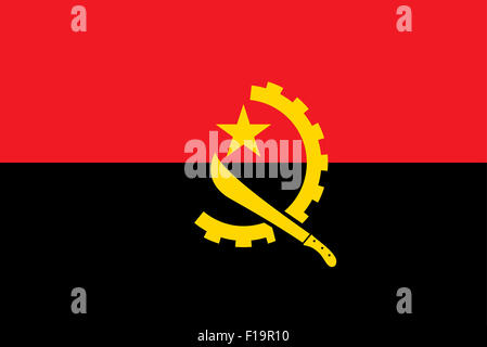 National flag of Angola - Stock Photo