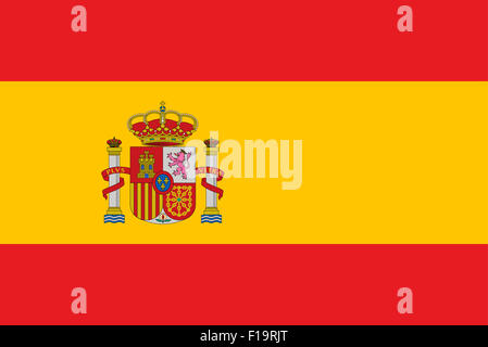 National flag of Spain - Stock Photo