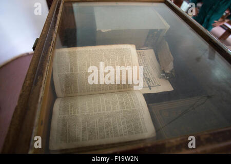 Adamstown, Pitcairn Island, The Bounty Bible, thought to have been used on HMS Bounty - Stock Photo