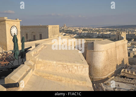 View from the Citadel walls over Rabat (or Citta Victoria), Gozo, Malta.