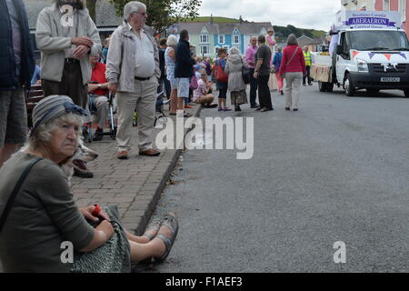 Aberaeron, Ceredigion, Wales, UK. 31st August, 2015. The Aberaeron Carnival  takes place every year on the August - Stock Photo