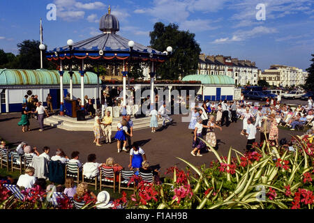 Jazz festival at the old bandstand at Cliff gardens. Southend-on-Sea. Essex. England. UK Circa 1990's - Stock Photo