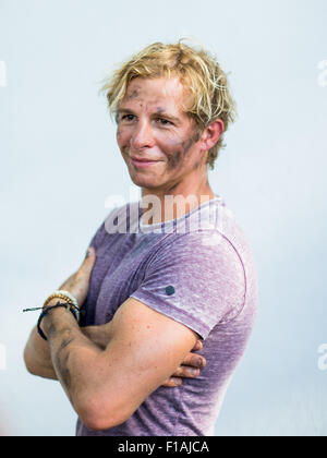 the actor daniel roesner as 'paul renner' poses with a
