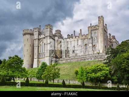Arundel Castle, Arundel, West Sussex, England, UK - Stock Photo