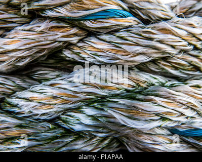 Abstract Background Texture Of Weathered Nautical Rope - Stock Photo