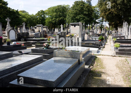 Montparnasse cemetery, Paris - Stock Photo