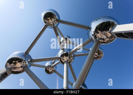 The Atomium structure in Brussels, Belgium - Stock Photo