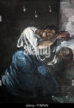 The Madeleine or Grief  La madeleine ou la douleur 1869 by Paul Cezanne 1839-1906 - Stock Photo