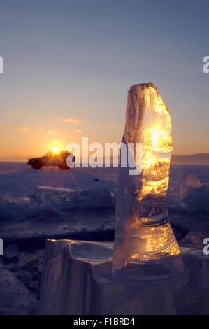 Lake Baikal, Siberia, Russia. 15th Oct, 2014. Ice crystals on lake Baikal © Andrey Nekrasov/ZUMA Wire/ZUMAPRESS.com/Alamy - Stock Photo