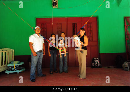Guatemala, Concepcion las Minas, family picture - Stock Photo